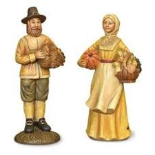 thanksgiving pilgrim figurines american resin figurine a fall fling
