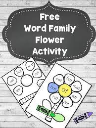 word family flower worksheet craft phonics activities word