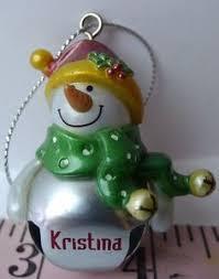 ganz jingle bell snowman personalized name doug ornament jingle