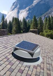 natural light solar attic fan venting capacity and sizing charts