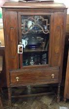 glass hutch antique furniture ebay
