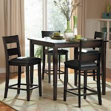 shop homelegance griffin burnished brown 5 piece dining set with homelegance griffin burnished brown 5 piece dining set with counter height table