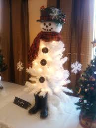 good white snowman xmas tree 65 about remodel home decor ideas