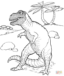 dinosaurs coloring pages printable free tyrannosaurus rex