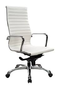White Swivel Office Chair White Leather Office Chair