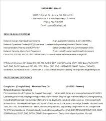 Sample Resume For Google by Network Engineer Resume Template U2013 7 Free Samples Examples Psd