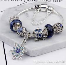 bracelet beads pandora style images Pandora style 2017 classical dazzling moon star blue bead jpg