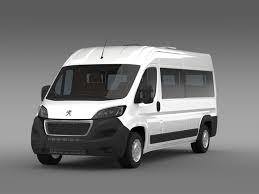 Peugeot Boxer Minibus 2014 By Creator 3d 3docean