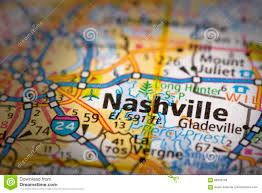 Map Of Nashville Tn Nashville On Map Stock Image Image Of Destination Paper 89393703