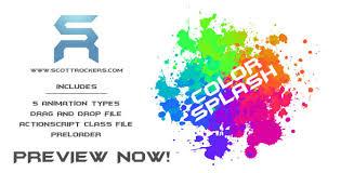 flash background color splash and paint splash plus preloader