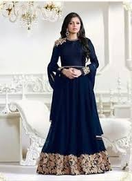 stylish dress indian stylish designer party blue anarkali salwar suit