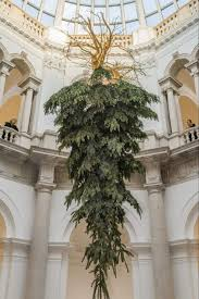 tate britain turns christmas on its head with upside down tree