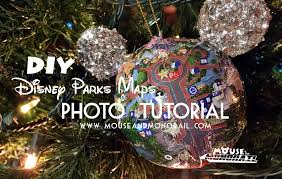 diy disney parks maps ornament photo tutorial the mouse and the