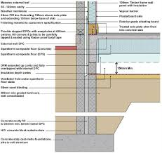 how to frame a floor spantherm concrete flooring construction detail