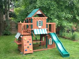 playset swing n slide outdoor furniture design and ideas
