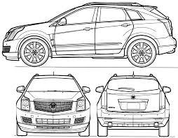 cadillac suv srx 2010 car blueprints 2010 cadillac srx suv blueprint