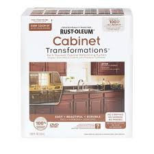 rust oleum cabinet transformations small cabinet kit in dark tint
