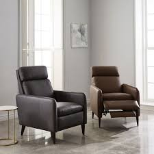 lewis leather recliner west elm