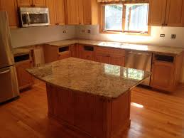 Light Kitchen Countertops Kitchen Granite Countertops Mix Stainless Steel Sink G Shaped