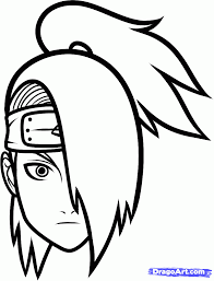 easy drawing naruto kids drawing coloring page clip art library