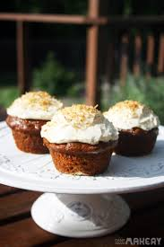 carrot cake cupcakes with maple syrup cream cheese frosting camp
