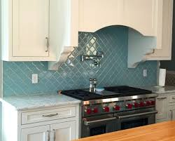 interior elegant blue green glass tile backsplash glass tile