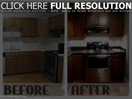 Refinish Kitchen Cabinets Before And After Refurbished Kitchen Cabinets Before And After Tehranway Decoration