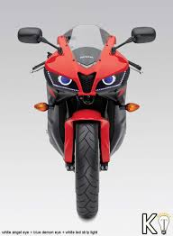 2012 Honda Cbr600rr Honda Cbr600rr 07 12 Angel Eye Hid Projector Custom Headlight On