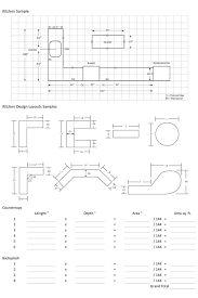 Sq Footage by Countertop Measurement Countertop Measurements Countertop