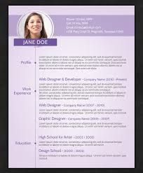 resume with photo template 21 stunning creative resume templates
