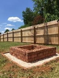 Brick Firepit Square Brick Pit Pit Ideas