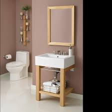 decolav infusion bathroom vanity shelving and mirror set wall