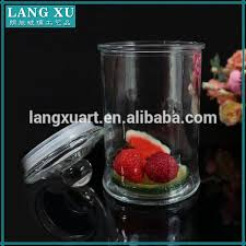 high quality clear glass kitchen canister set in different size