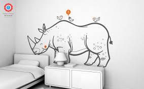 savanna rhinoceros wall decal nursery kids rooms wall decals