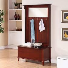 hall tree coat rack storage bench seat entryway furniture stand