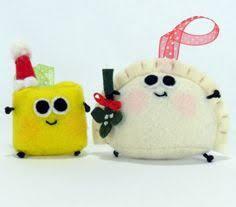 pierogi plush felt and ornament 10 00 via