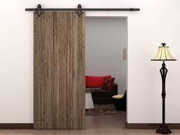 Barn Style Interior Sliding Doors 6 Ft Country Style Black Barn Wood Steel Sliding Door Closet