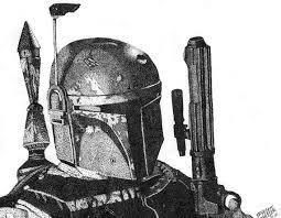 items similar to star wars art boba fett drawing print of a