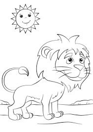 cute cartoon lion coloring free printable coloring pages