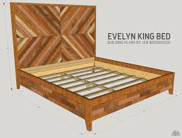 What Is The Width Of A King Size Headboard by Diy West Elm Alexa Chevron Bed