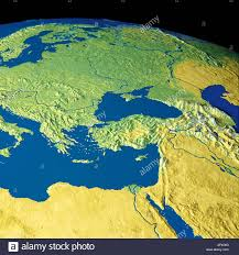 Map Of Europe And North Africa by Map Maps Globe Globes Europe North Africa Middle East Stock Photo