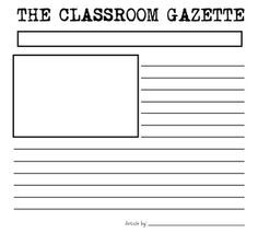 newspaper article template printable best design template idea u0027s