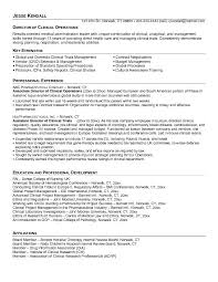 board member resume free director of clinical operations resume example