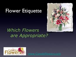 ordering flowers what s appropriate when ordering flowers