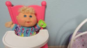Pink Swinging Baby Chair Cabbage Patch Kids Babies Unboxing You U0026 Me High Chair You