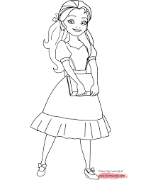 elena avalor coloring pages getcoloringpages