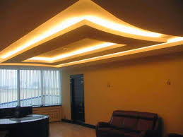 Drop Ceiling Installation by Multilevel Suspended Ceiling Of Plasterboard Preparing For