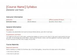 teacher syllabus template syllabus templates for teachers