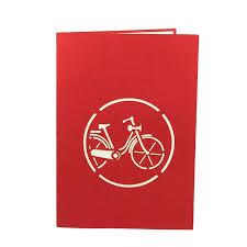 customized cards tulip bike card custom 3d cards wholsale charm pop