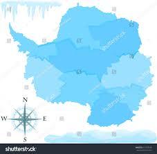 Map Of Antarctica Map Antarctica Stock Vector 112378346 Shutterstock